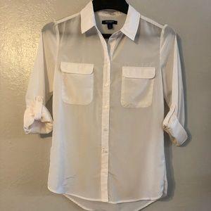 0227a0e96526ef Blouse.  20  0. Old Navy Sheer Button-up
